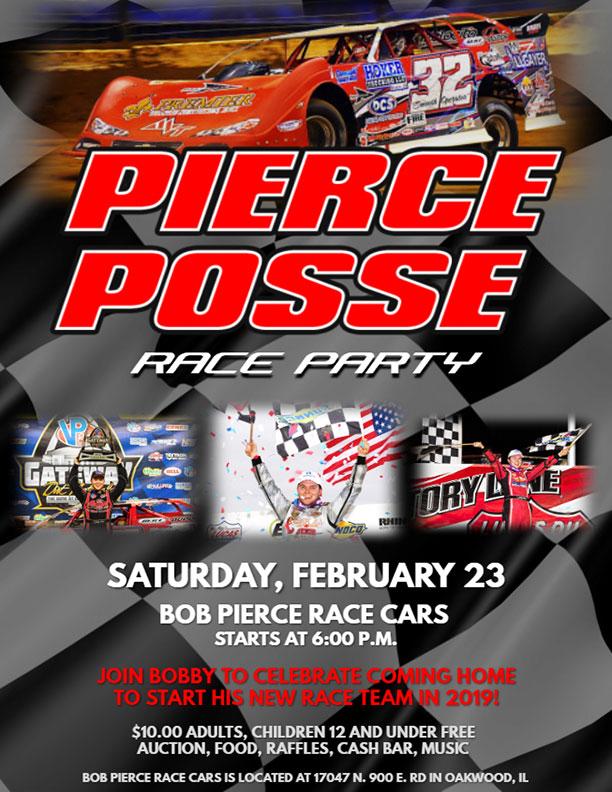 Pierce Race Cars: News
